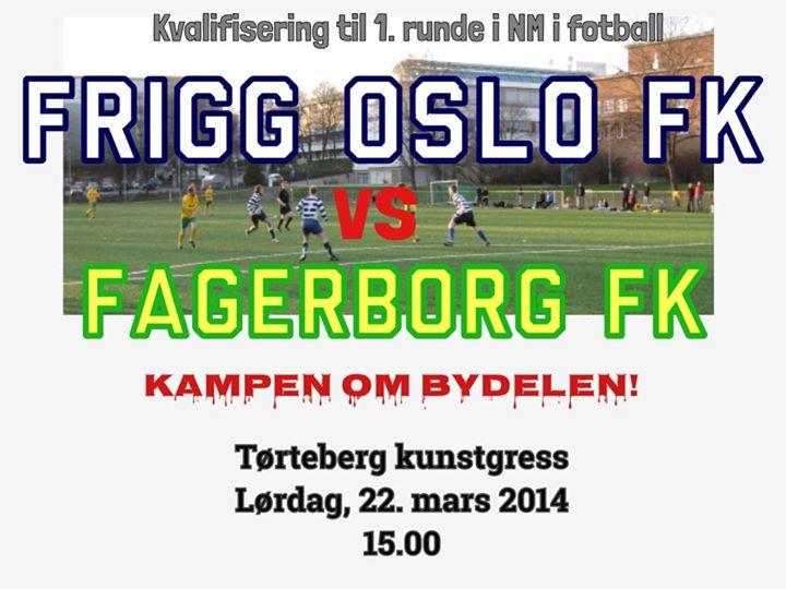 Kamp på Tørteberg: Frigg møter Fagerborg i 1 kamp i NM lørdag førstkommende kl 15